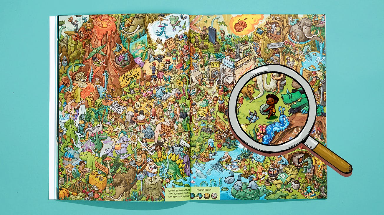Inside Spread of Where Are You...? The Journey Through Time