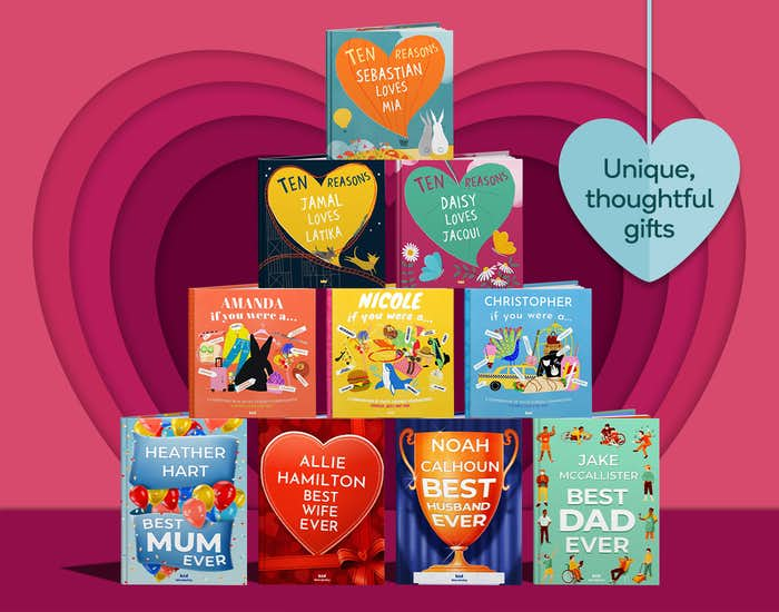Wonderbly personalized books collection
