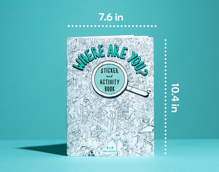 Image of journal-sized Where Are You Sticker and Activity Book 7.6 inches by 10.4 inches