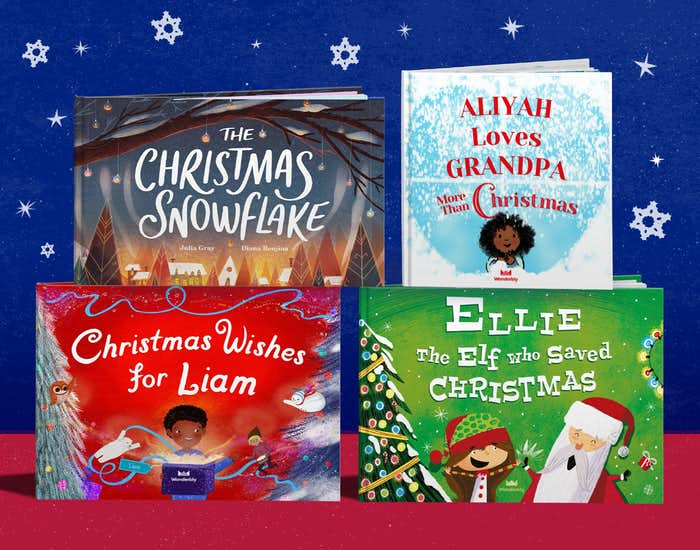 Wonderbly personalized christmas book collection