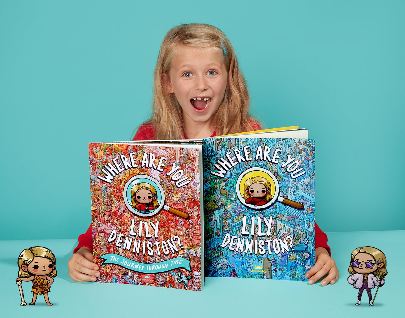 Girl holding both editions of Where Are You...?