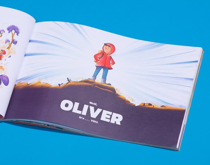 The Wondrous Road Ahead, book personalized for Oliver