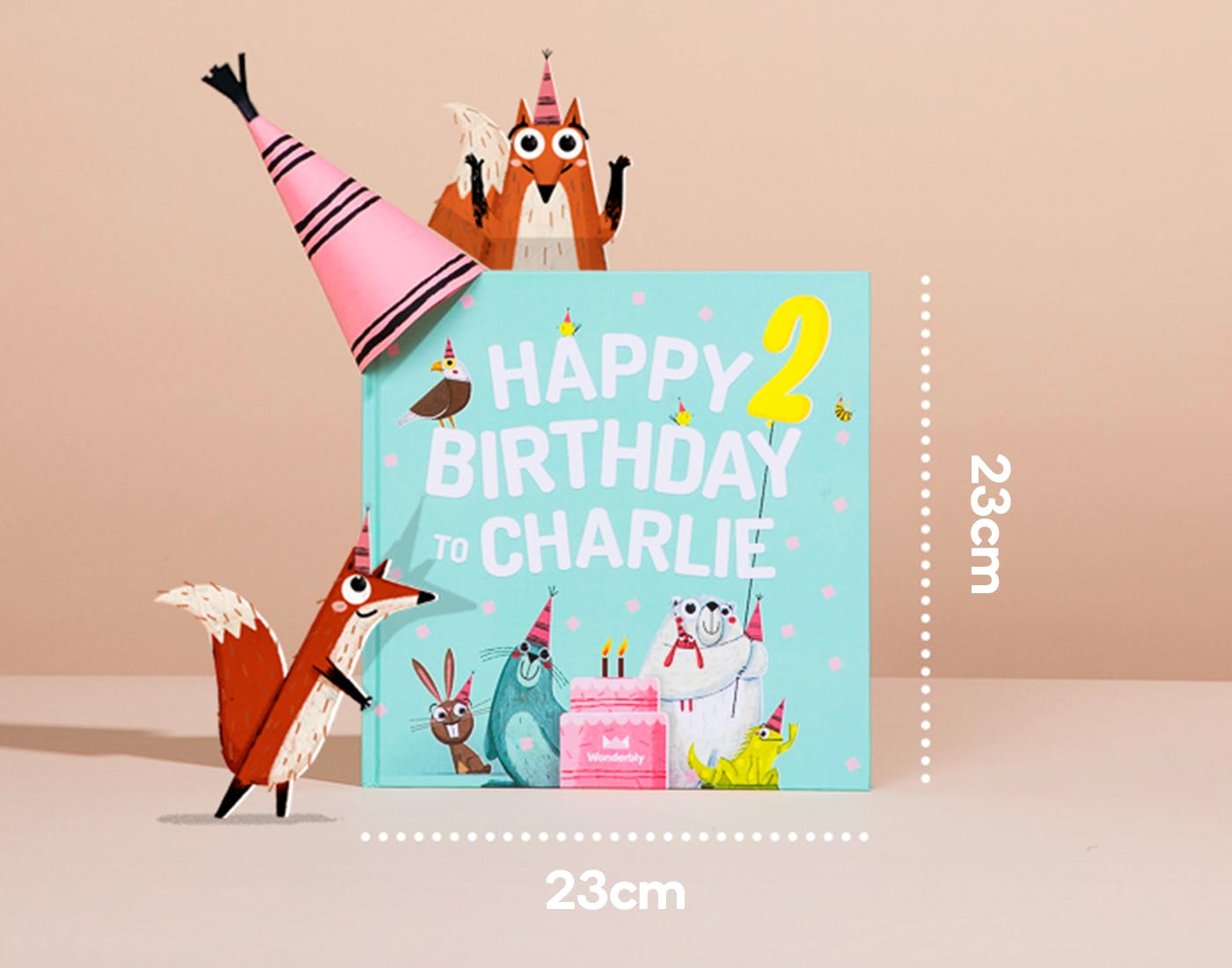 Happy Birthday Mint Cover Uk Dimensions in CM