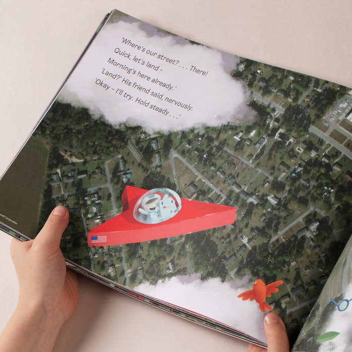The Journey Home - Product Description of a bird eye view of the child's house