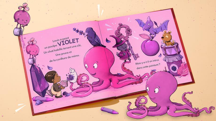 Double-page illustrée de Toi et les couleurs