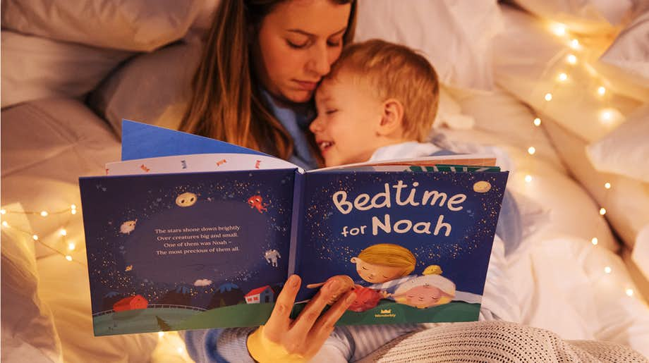 Mother and child reading Bedtime For You