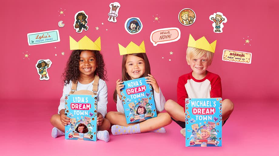 Dream Town kids and crowns
