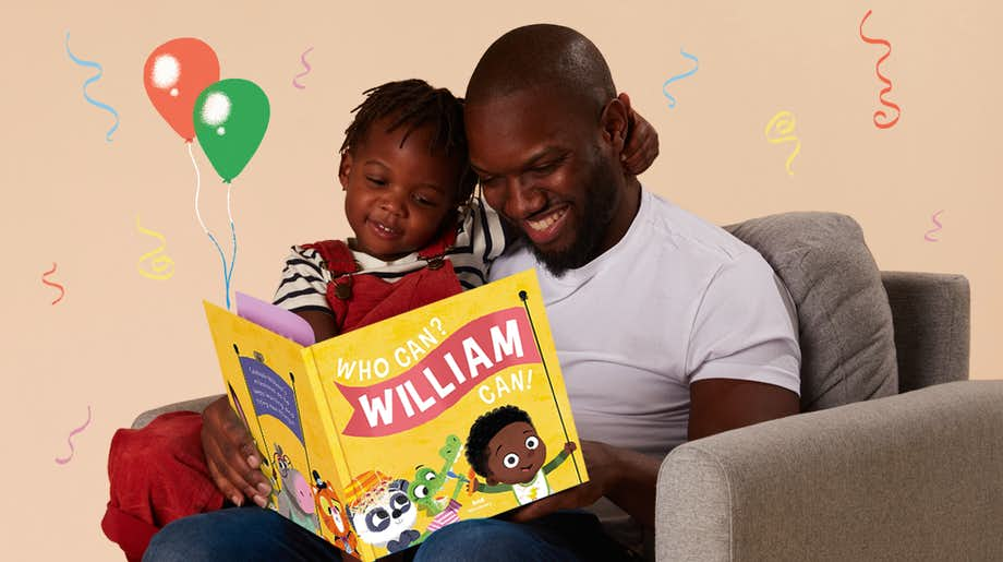 Father and child reading Who Can? You Can!