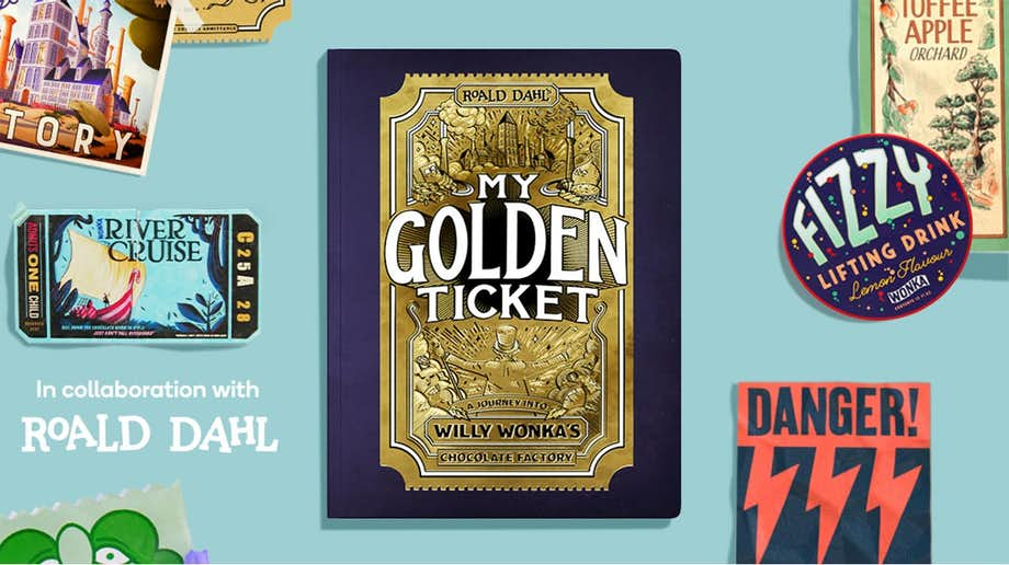 A collaboration with Roald Dahl to create a personalized my golden ticket adventure for the child