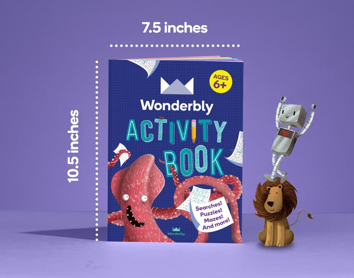 Dimensions of Wonderbly Activity Book