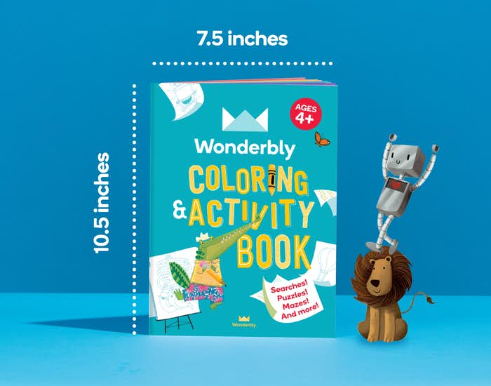 Dimensions of Wonderbly Coloring and Activity Book