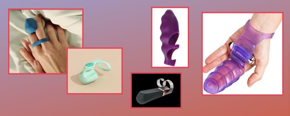 Screenshots of the discussed finger vibrators.