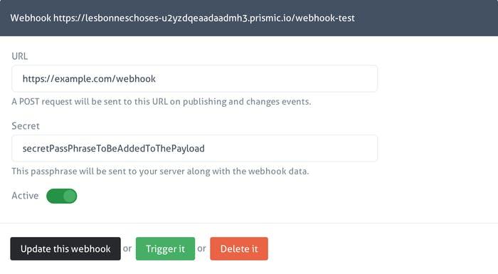 Introducing prismic io webhooks: integration with publishing