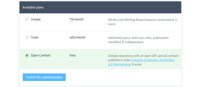 prismic io: Free for Open Source and Open Content - Prismic
