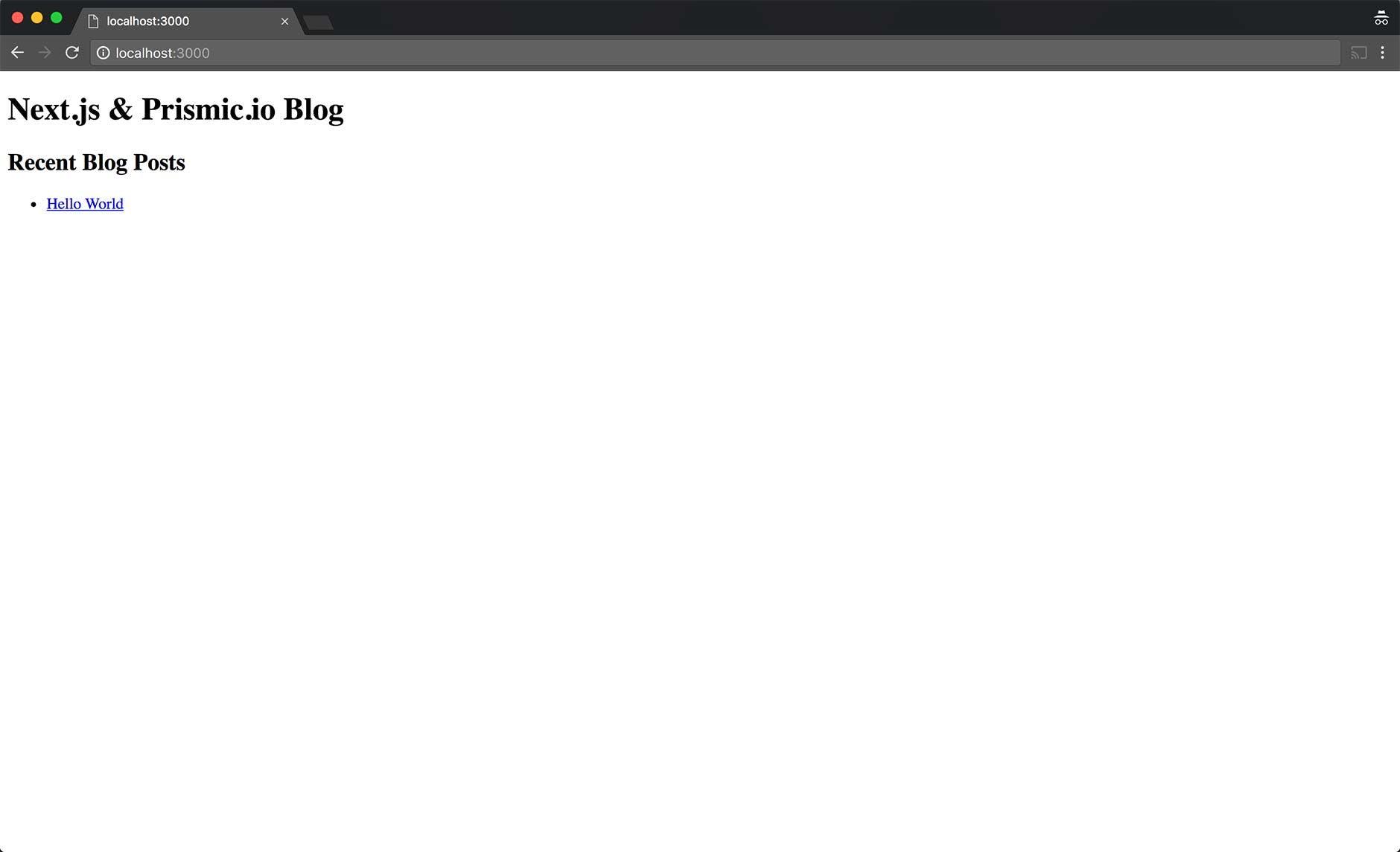 Server-side rendered blog with Next js and Prismic - Prismic