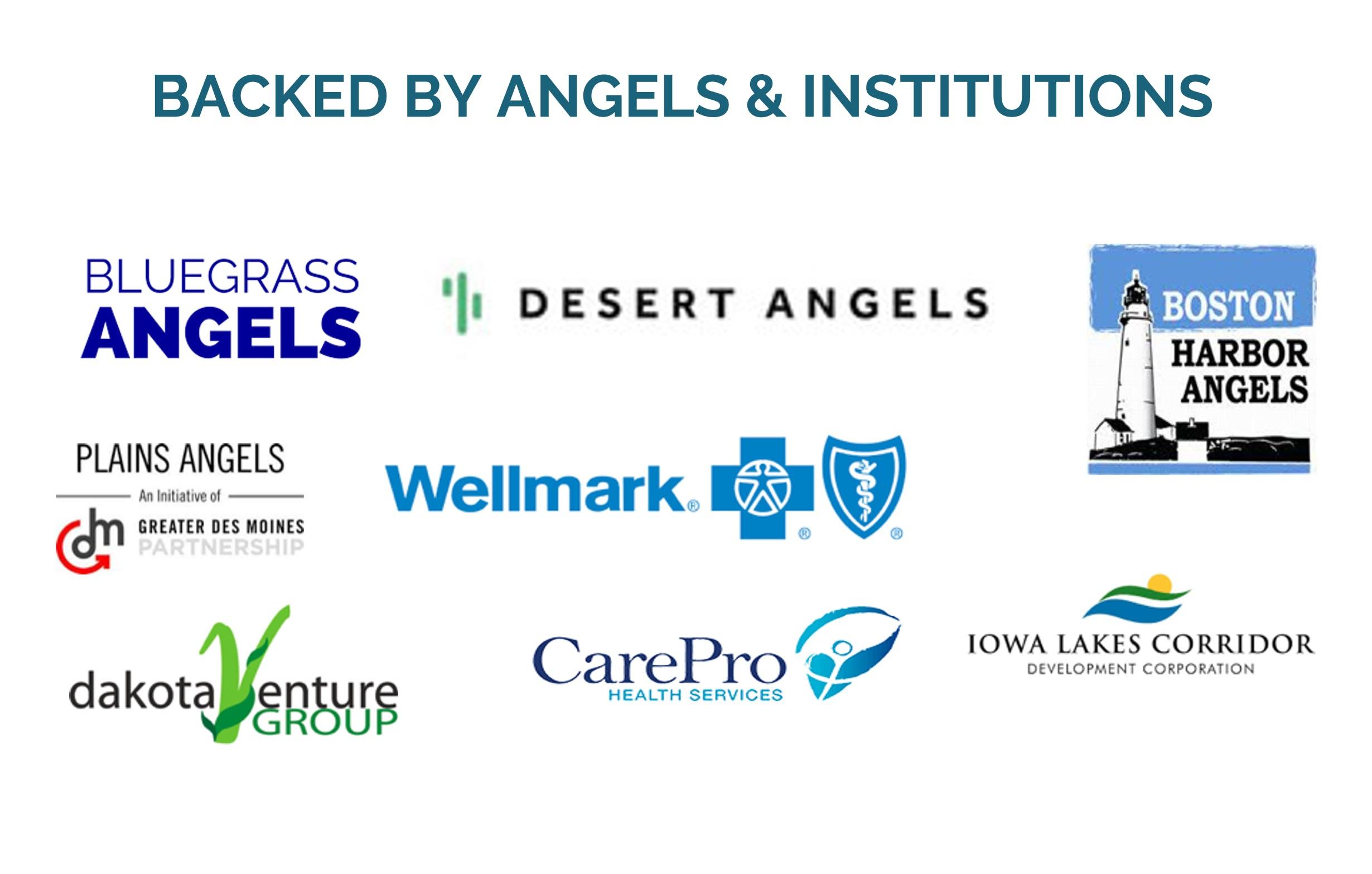Bluegrass Angels Desert Angels Plains Angels Wellmark Boston harbor Angels Iowa Lakes Corridor CarePro Health Dakota Venture Group