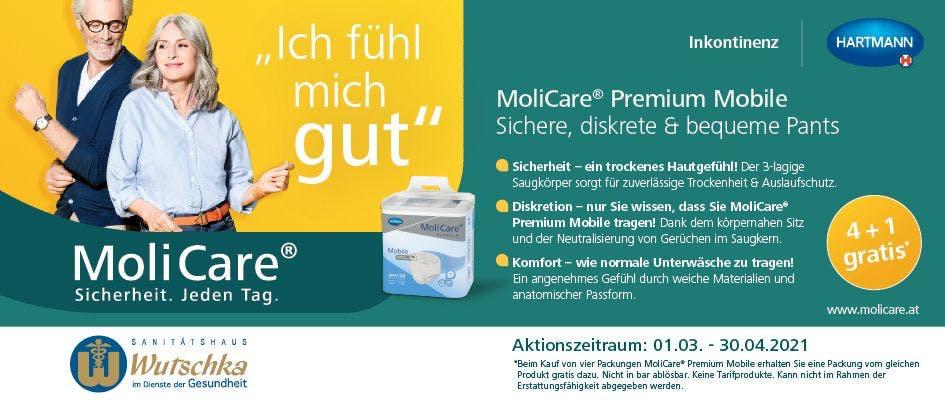 Molicare Premium Mobile Aktion 4+1 Gratis