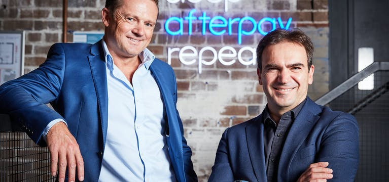 Andrew Paykel, CEO of Play Travel and Hein Vogel, CEO of AP Ventures at Afterpay head office.