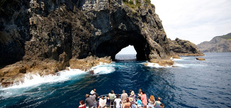 Bout tour going to Hole in the Rock, Bay of Islands, New Zealand.