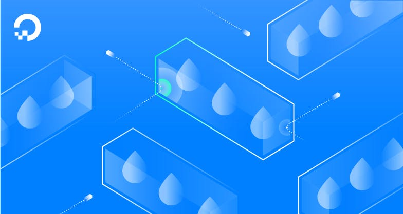 droplets in boxes illustration