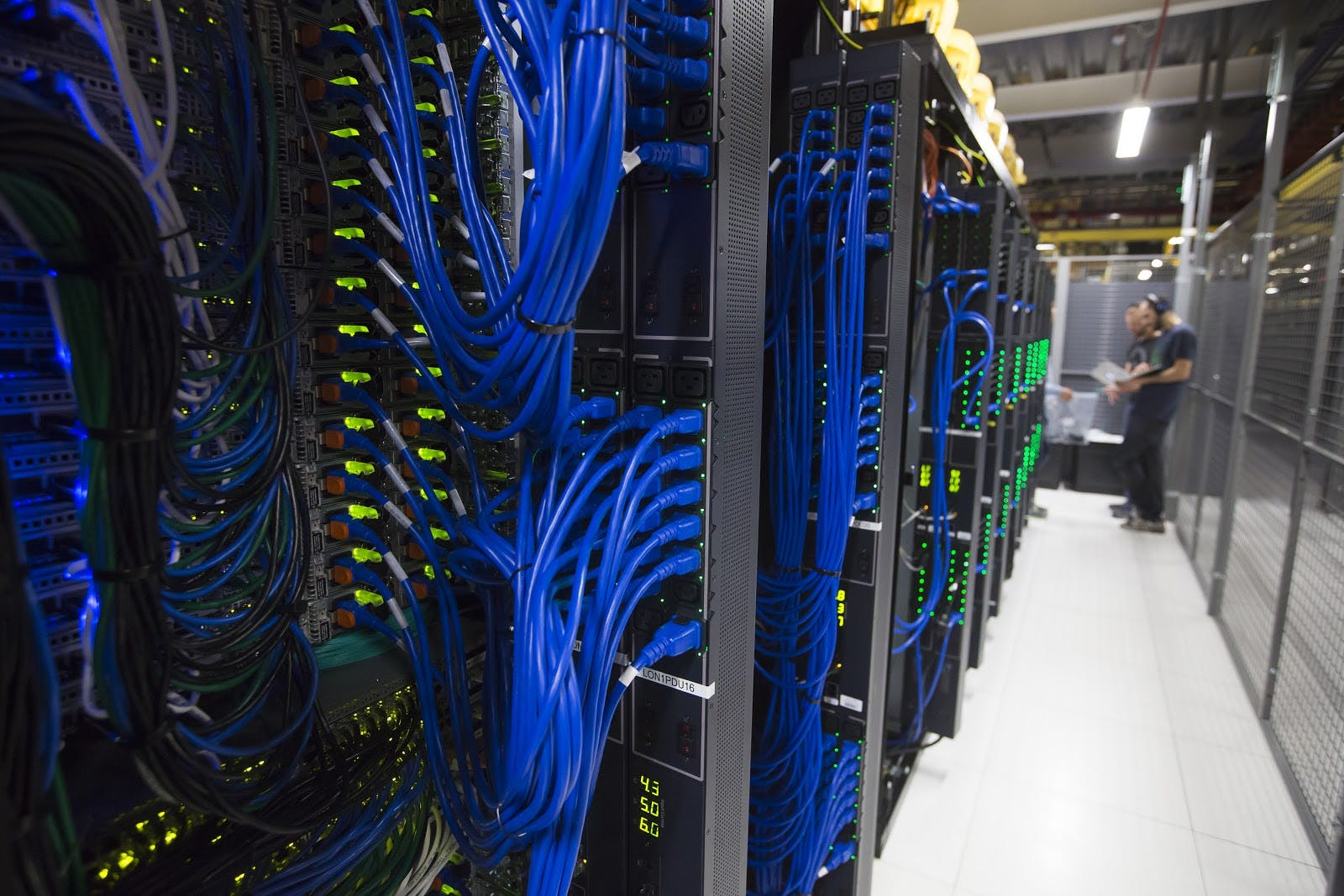 Inside LON1, our London datacenter region