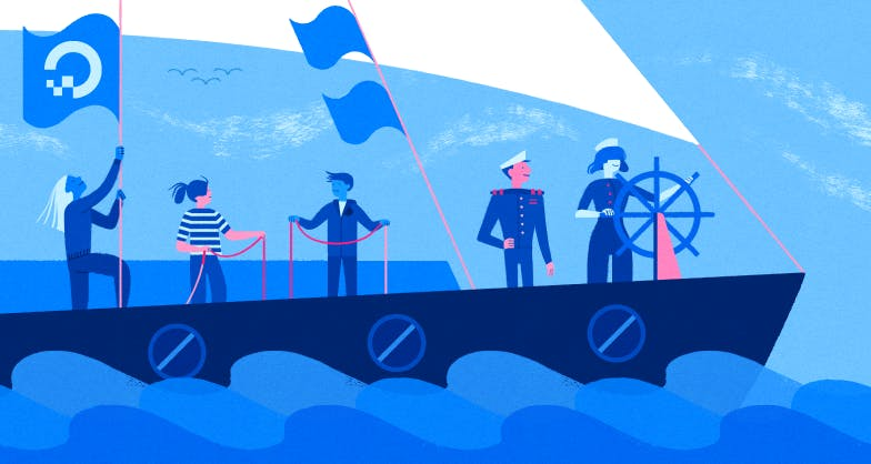 Sailors on a ship illustration