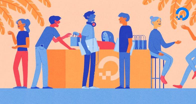 Developers talking illustration