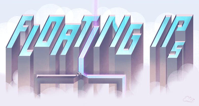 Floating IPs illustration letters