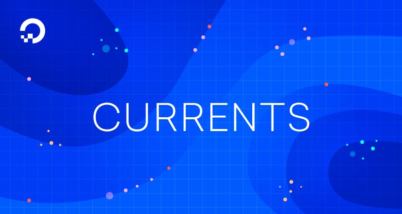 waves illustration with the text currents