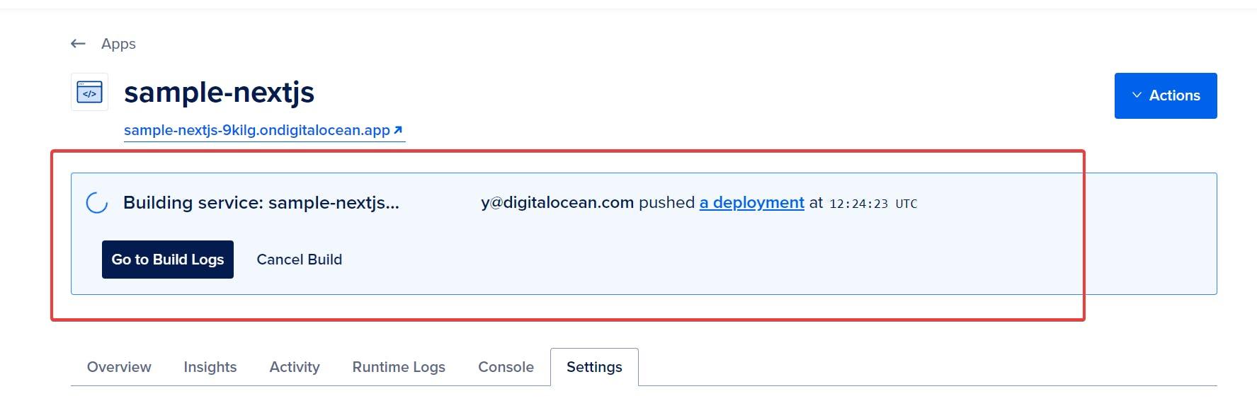 deployment progress image