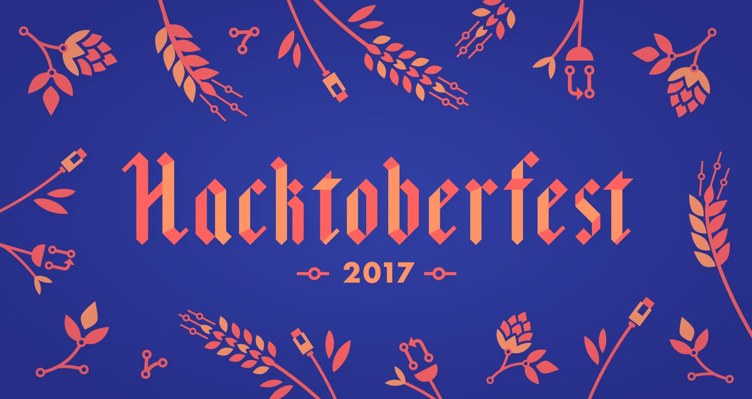 Hacktoberfest 2017 illustration