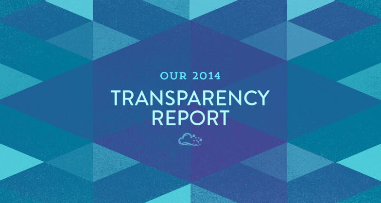 Our 2014 Transparency Report text on top of illustration