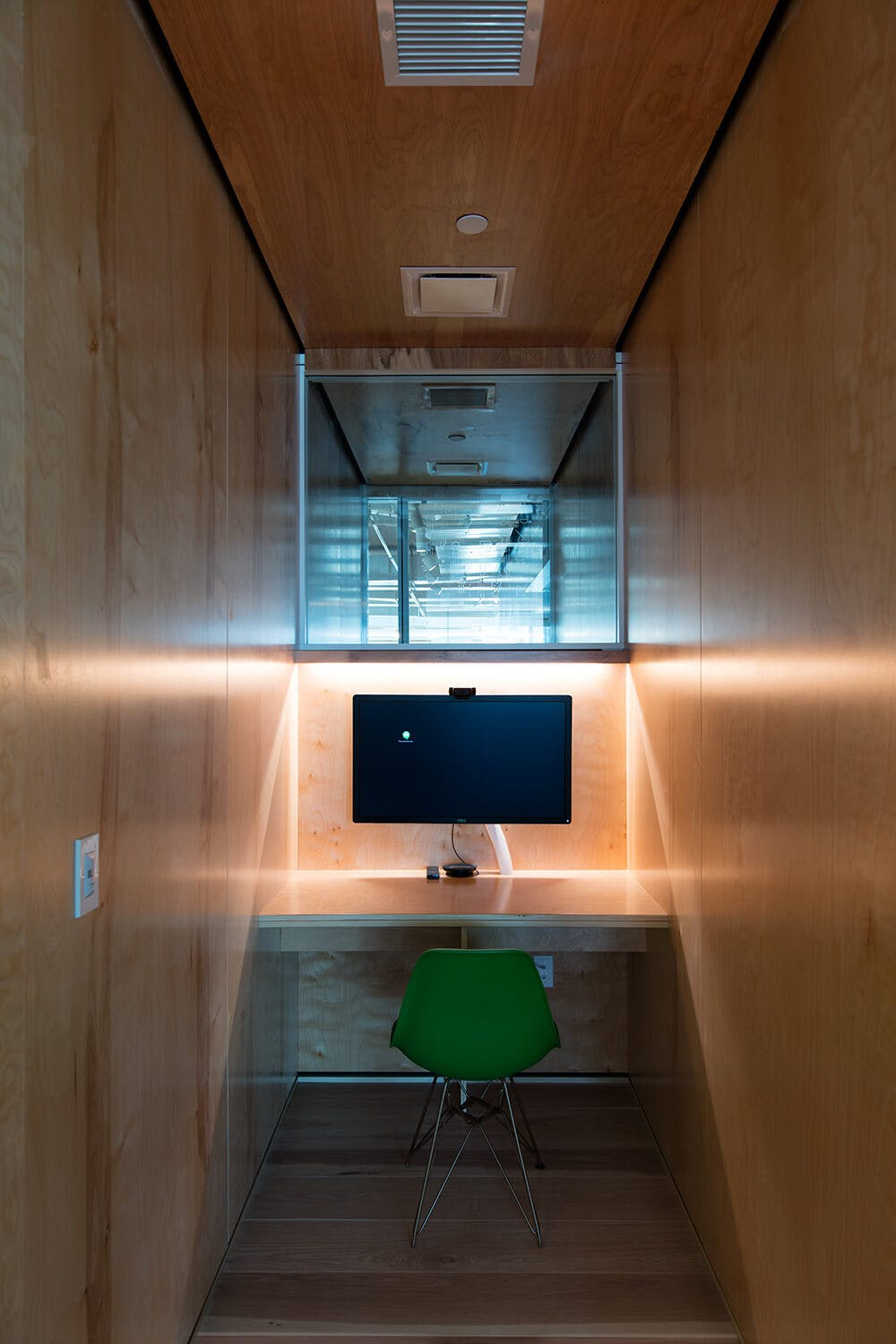 Phone booth for remote meetings