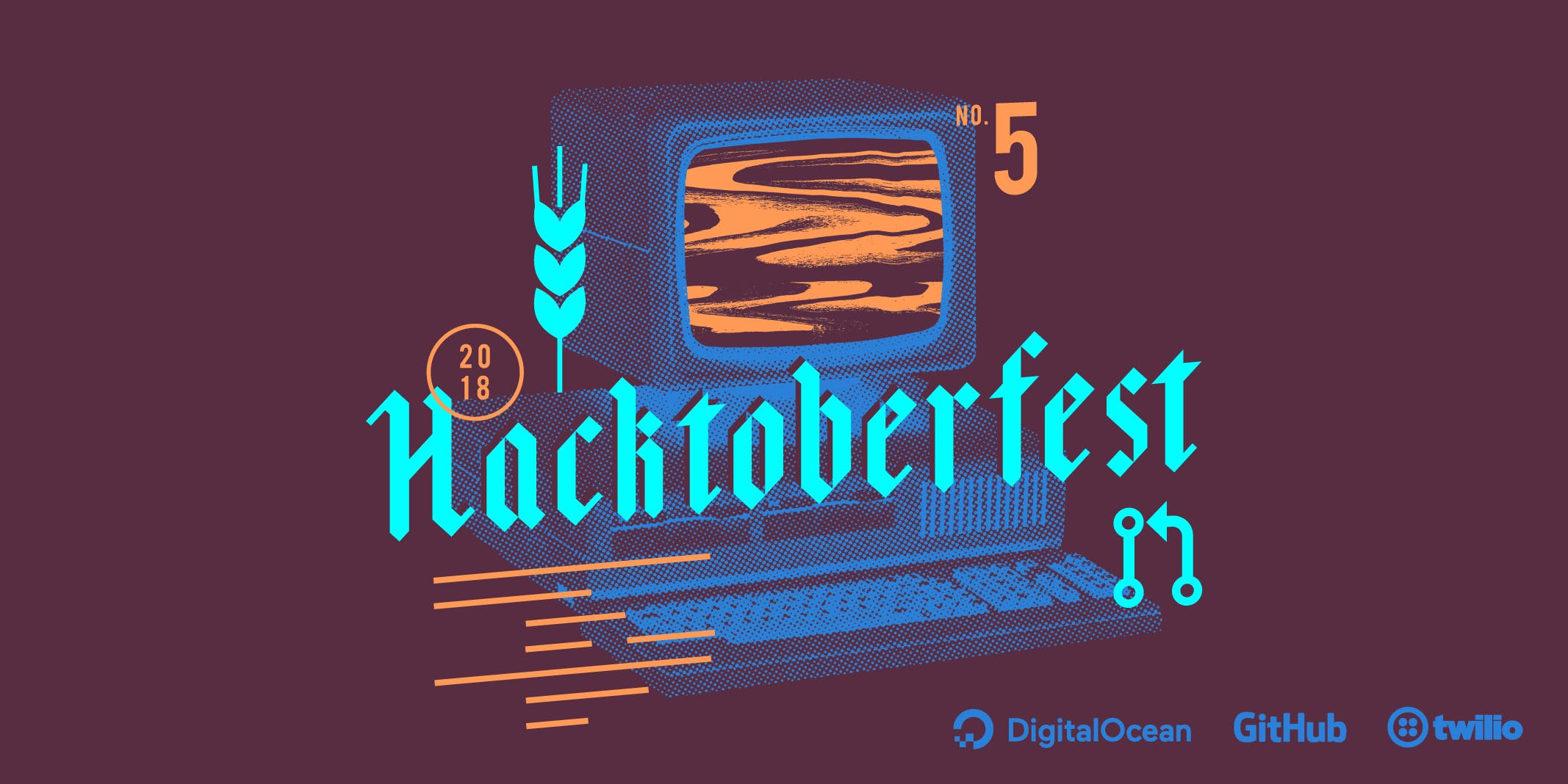 Hacktoberfest 2018 illustration
