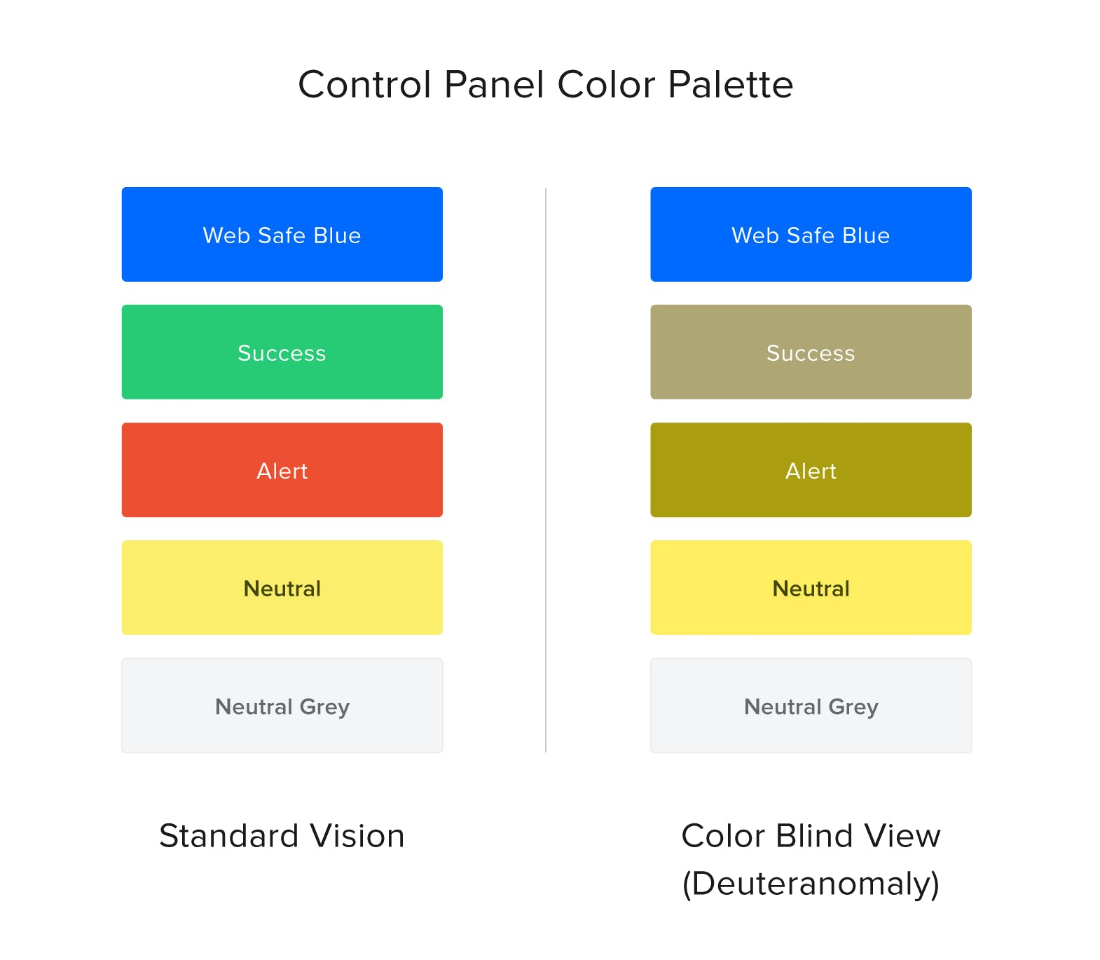 control panel color palette