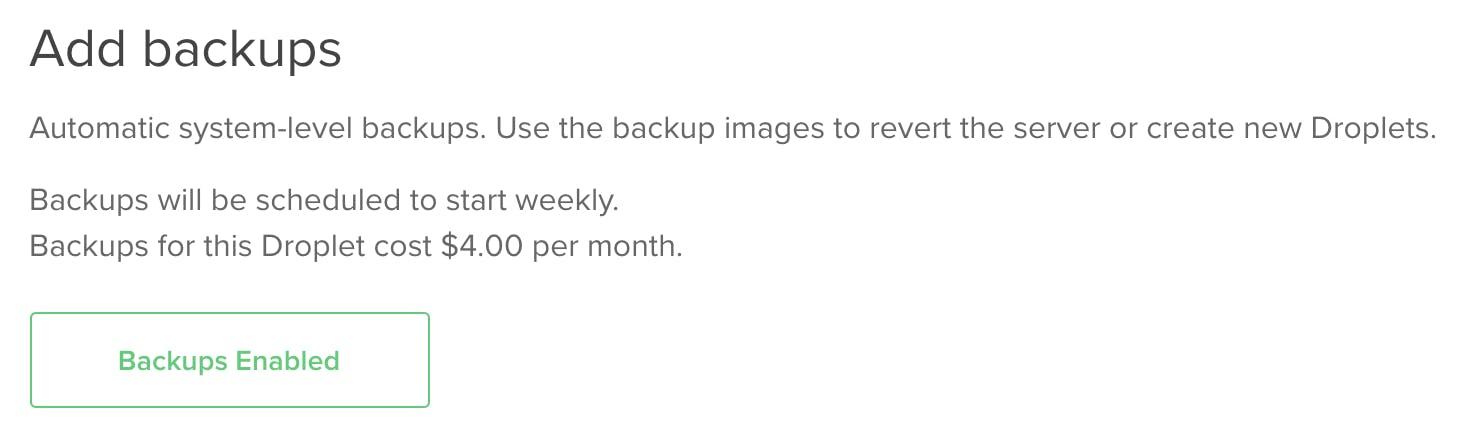 Add backups