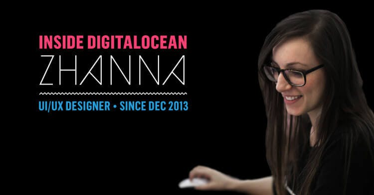 UI/UX designer with mouse and words 'Inside DigitalOcean Zhanna""