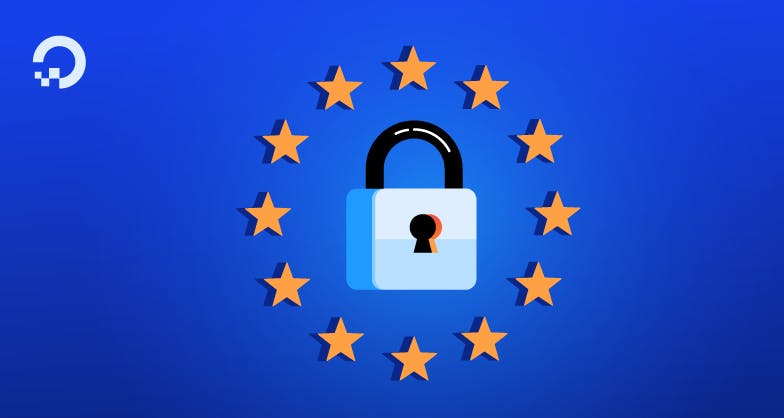 GDPR lock and EU stars illustration