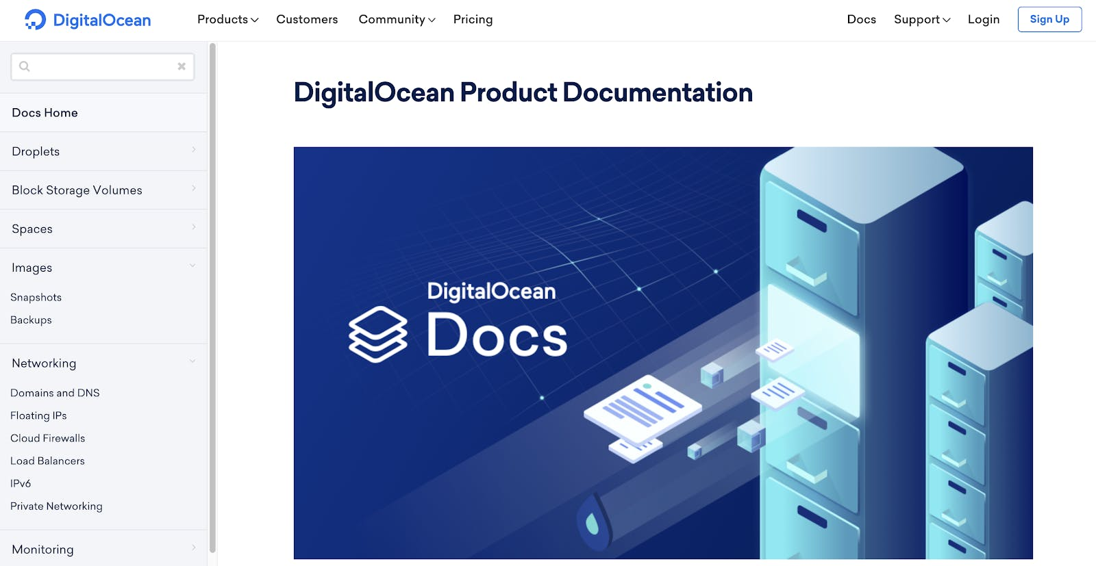 New product documentation site