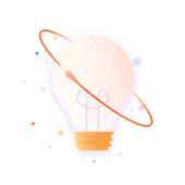 Lightbulb with atom