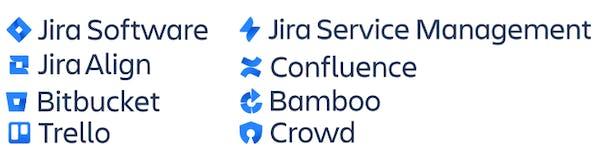 Logos for Atlassian tools