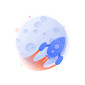 Rocket around the moon