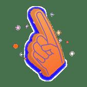 Illustration of a foam hand