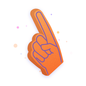 Illustration of a big hand similar to those found at sports events