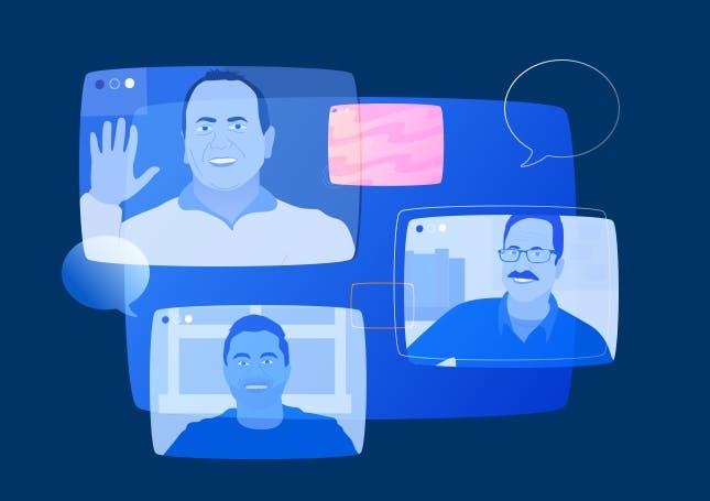 illustration of webinar speakers