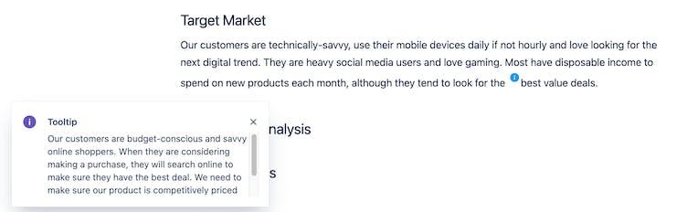 Screenshot of tooltip macro in Confluence