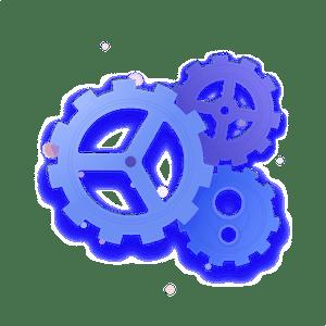 Blue cogs