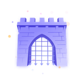 Illustration of a castle gate