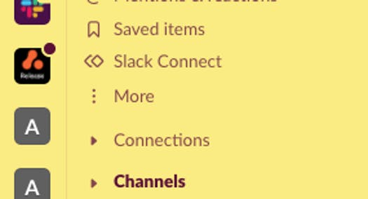 Slack workspaces and channels