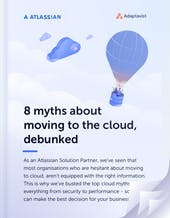 8 myths about moving to the cloud, debunked whitepaper cover